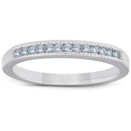 1/4ct Diamond Channel Set Ring 14K White Gold (I-J, I1-I2)