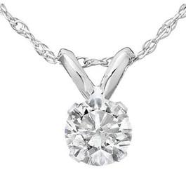 1/3ct Round Solitaire 14k White Gold Diamond Pendant (L, I2-I3)