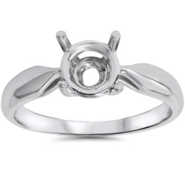 Engagement Ring Solitaire Mounting 14K White Gold