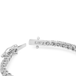 8ct 18k White Gold Round Diamond Tennis Bracelet (H-I, I1-I2)