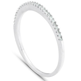 1/10CT Diamond Ring 14K White Gold (H/I, I1-I2)