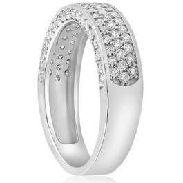 1 ct Diamond Wedding Ring 14k White Gold Womens Anniversary Band (H-I, I1)