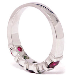 1/2ct Ruby & Diamond Wedding Anniversary 14K Ring (G/H, I1)