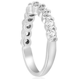 5/8 ct Diamond Engagement Guard Wedding Ring Enhancer Band 14k White Gold (I-J, I1)