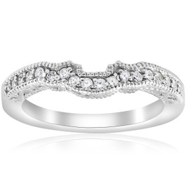 1/5ct 14k White Gold Vintage Wedding Engagement Ring Enhancer (G/H, I1)