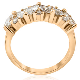 1 1/2ct Fancy Marquise Diamond Womens Wedding Anniversary 14k Yellow Gold (G/H, SI)