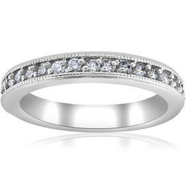 1/3ct Diamond Wedding Ring 14K White Gold (G/H, I1)