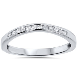 1/4ct Princess Cut Diamond Curved Guard Wedding Ring Enhancer (G/H, I2-I3)