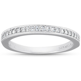 1/8ct Diamond Ring 14K White Gold (G/H, I2-I3)