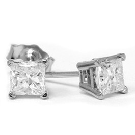 3/4ct Diamond Studs 14K White Gold (G/H, SI2-SI3)