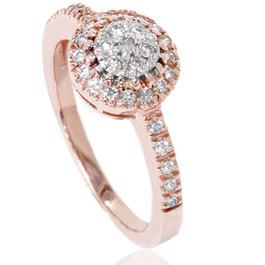 1/2ct Cluster Diamond Ring 14K Rose Gold (H/I, I1)