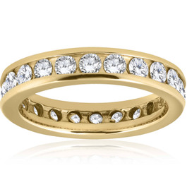 2ct Channel Set Diamond Eternity Ring 14K Yellow Gold (G/H, I1)