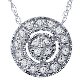 "1/4ct Diamond Pave Halo Pendant 14K Black Gold Womens Necklace & 18"" Chain (I-J, I2-I3)"