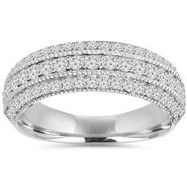 3/4CT Pave Diamond Ring 14K White Gold (H/I, I1-I2)