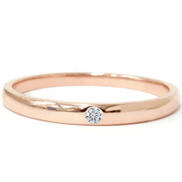 1/30ct Promise Diamond Solitaire Bezel Ring 14K Rose Gold (G/H, SI2-I1)