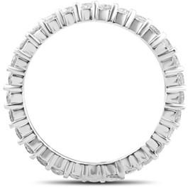3/4ct Diamond Eternity Wedding Ring 14k White Gold Lab Created (I-J,SI2-I1) ((I-J), SI(2)-I(1))