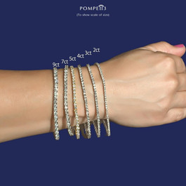 "3 Ct. Diamond 18K White Gold Round Cut Tennis Bracelet 7"" (G/H, VS)"