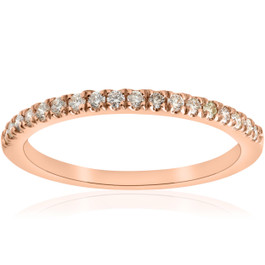 1/4ct Diamond Wedding Ring 10k Rose Gold (H/I, I1-I2)