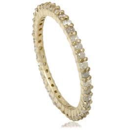 1ct Rough Gray Diamond Eternity Ring 14K Yellow Gold (I/J, I3)