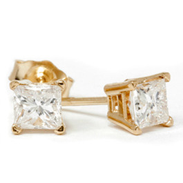 1/2ct Diamond Studs 14K Yellow Gold (G/H, SI2-SI3)