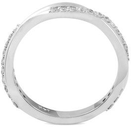 1/4 ct Diamond Twisted Vine Womens Wedding Ring 14k White Gold (H/I, I1-I2)
