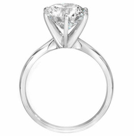 2 1/15ct Round Diamond Solitaire Engagement Ring 14K White Gold (H/I, I2-I3)