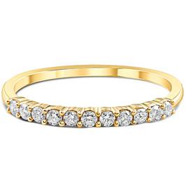 1/4ct 14K Gold Diamond Wedding Anniversary Ring Band (H, I2)