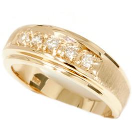 Ladies 14K Yellow Gold 1/6ct Diamond Wedding Ring (G/H, I2)