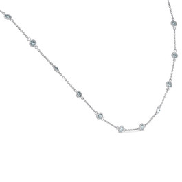 "1 3/4 Ctw Diamond By The Yard Tennis Necklace 14K White Gold 18"" (G-H, SI)"