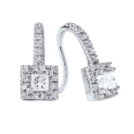 5/8ct Diamond Studs 14K White Gold (H/I, I2)