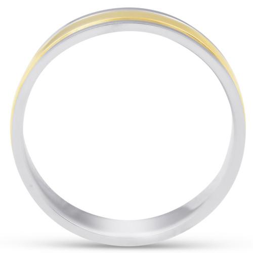 6mm 950 Platinum 18k Gold Two Tone Wedding Band Ring