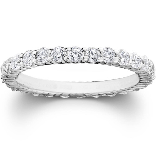 eternity pave low wb basket white diamond ct prong bands shared band