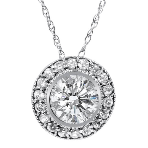 gold diamond ct p t white w journey circle in tw v pendant