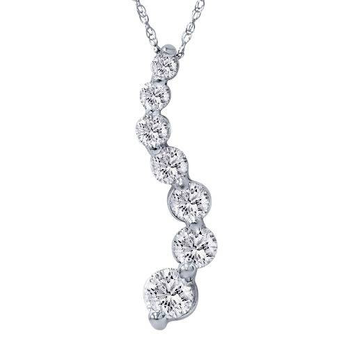 2ct huge diamond journey pendant 14k white gold 2ct huge diamond journey pendant 14k white gold gh i1 aloadofball Images
