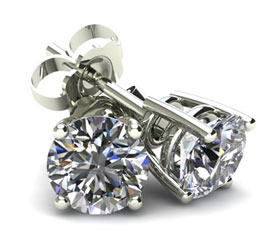 4 Prong Round Basket White Diamond