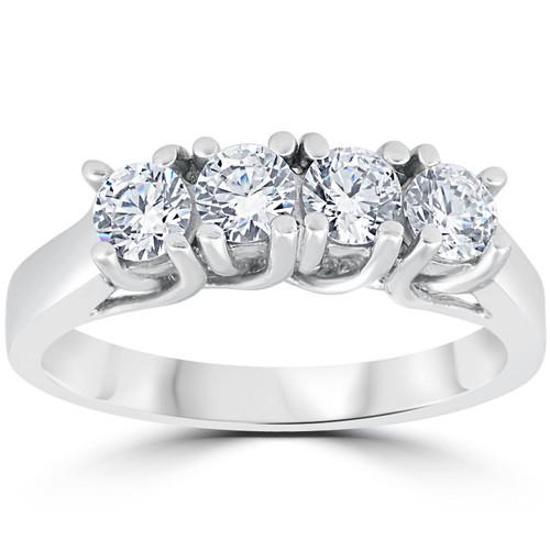 1 1 2ct Diamond Wedding Ring Enhancer 14k White Gold