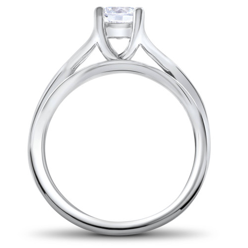1/2ct Intertwined Diamond Engagement Ring Set 14K White Gold