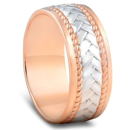 band walnut men rose wedding in with mm gold diamond inlay black ring bands diamonds s rings mens wood