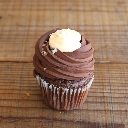 Bi-Rite Creamery Chocolate Salted Caramel Cupcakes