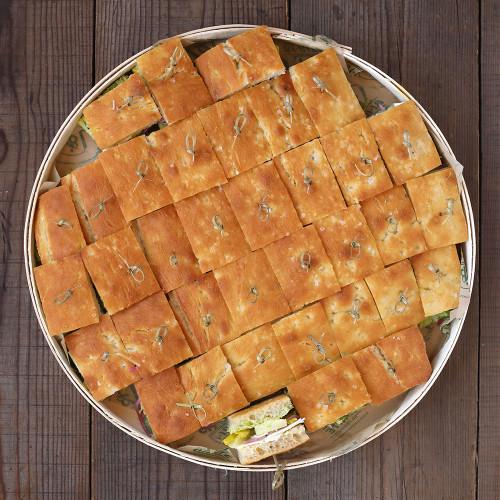 Halloumi Cheese & Pea Hummus Finger Sandwiches