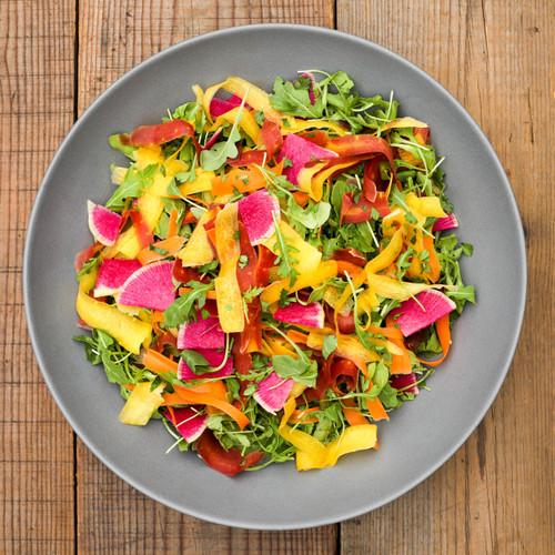 Arugula Salad with Rainbow Carrots