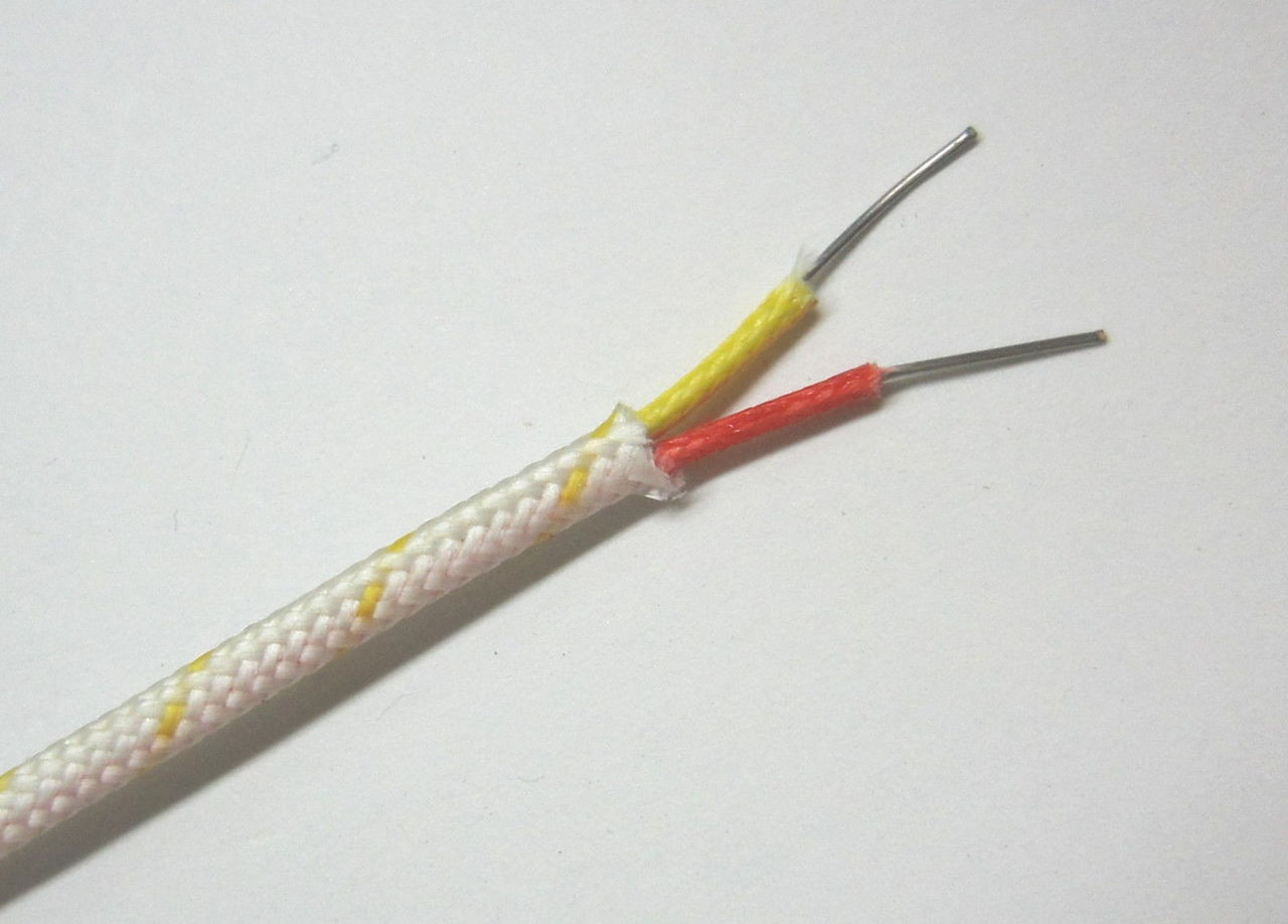 Buy a stranded K-type thermocouple wire for extension wire or ...