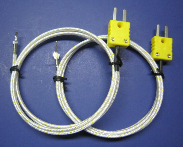 High Temperature K-type Thermocouple with ceramic fiber insulation - PK-1000 set of 2 UPC: 096802969690