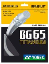 Yonex BG65Ti 0.70mm Badminton Set