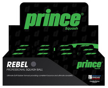 Prince Rebel Double Yellow Dot Squash Balls 12 Pack