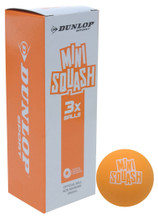 Dunlop Mini Orange Squash Balls 3 Pack