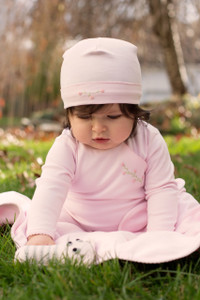 Pima Cotton Rosebud Blanket