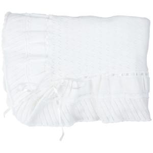Pointelle Knit Ruffle Blanket