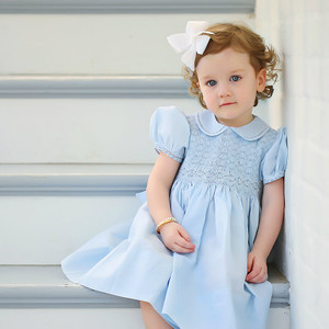 Collared Smocked Dress