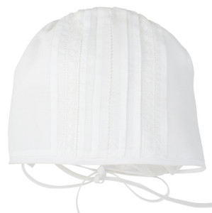 Special Occasion Bonnet with Lace Inserts